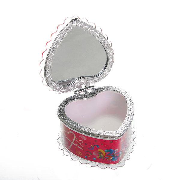Шкатулка из пластика ″Счастливый праздник″ сердце 7*8*6 см купить оптом и в розницу