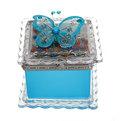 Шкатулка из пластика ″Бабочка″ квадрат с зеркалом 7*6 см купить оптом и в розницу