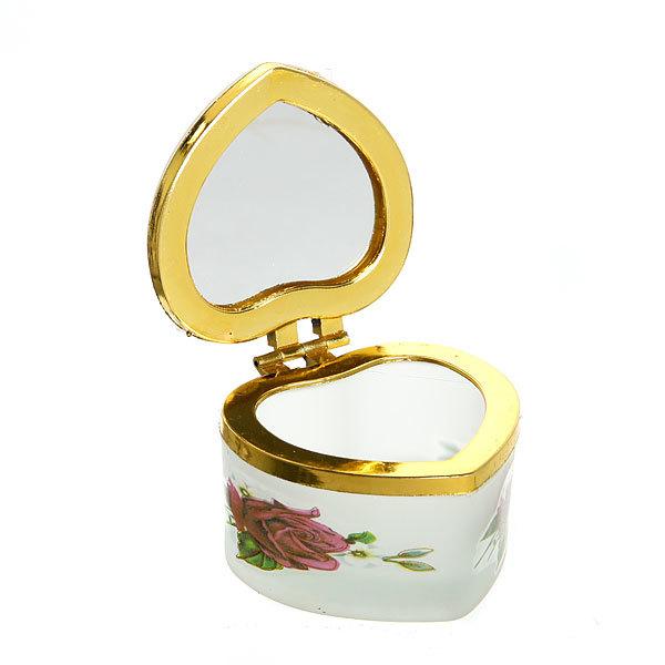 Шкатулка из пластика ″Цветы″ квадрат с зеркалом 5*5 см купить оптом и в розницу