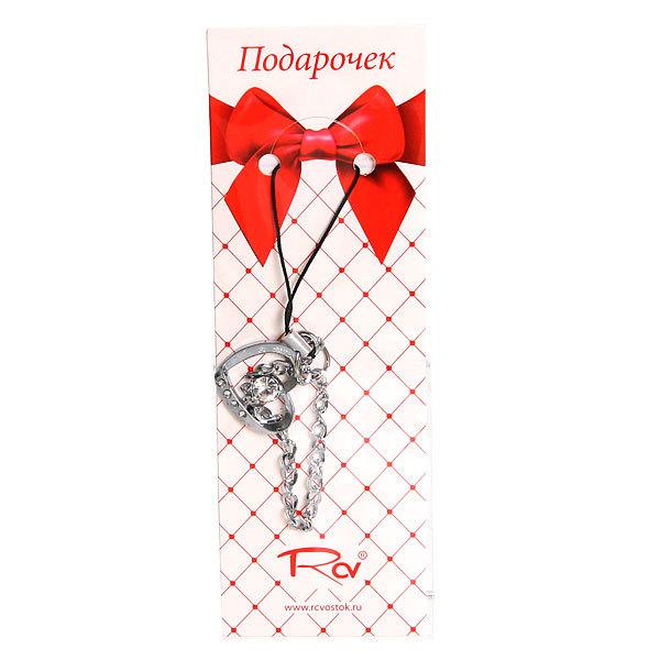 Подвеска для телефона металлическая ″Сердечко кристал″ с цепочкой, 6см купить оптом и в розницу