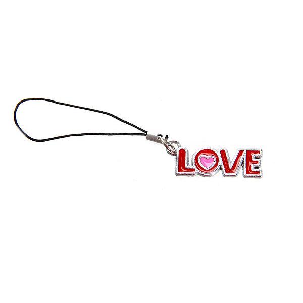 Подвеска для телефона металлическая ″Love эмаль″, 5см купить оптом и в розницу