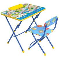 Набор детской мебели ″Правила дорожного движения″ складной, с пеналом, мягкий стул КУ2/14 купить оптом и в розницу