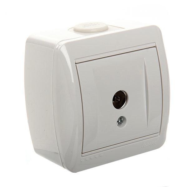 Розетка ТВ проходная NATA белый 710-0200-129 (Р) купить оптом и в розницу
