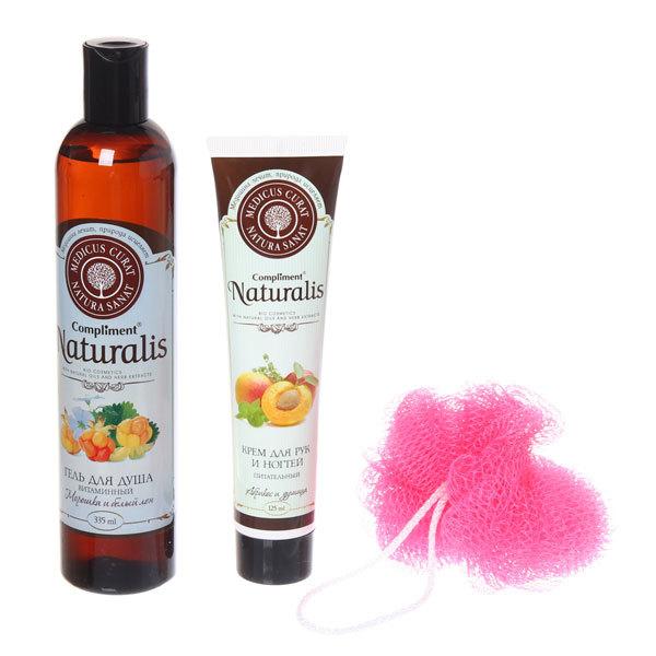 Подарочный набор женский ″Питание и витамины″ (крем для рук и гель для душа) Compliment Naturalis купить оптом и в розницу
