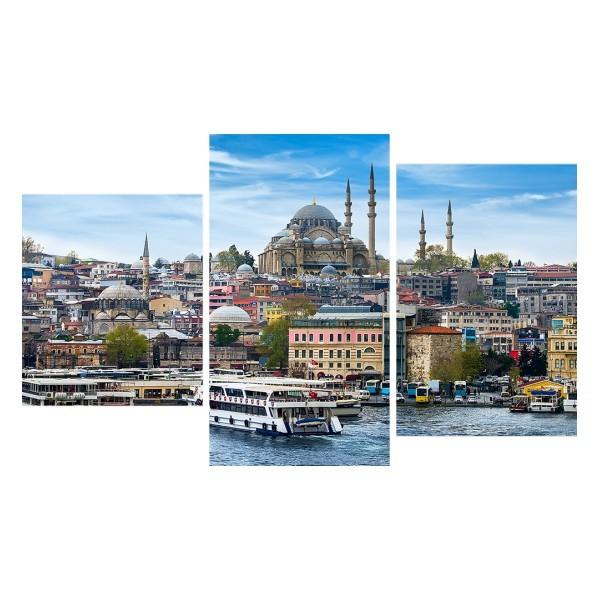 Картина модульная триптих 55*96 Город диз.3 65-01 купить оптом и в розницу