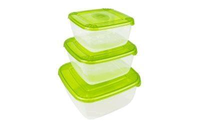 Набор емкостей для хранения пищевых продуктов POLAR квадратных 3 шт. (0,46л; 0,95л; 1,5л) *8 купить оптом и в розницу