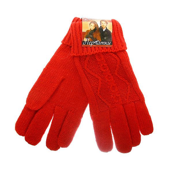 Перчатки женские утепленные ″Классика″ цвет красный, h-23см (кроличья шерсть) купить оптом и в розницу