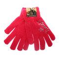 Перчатки женские утепленные ″Узоры″ цвет малиновый, h-21см (кроличья шерсть) купить оптом и в розницу