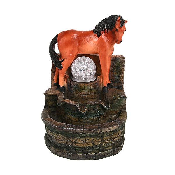 Фонтан из полистоуна ″Лошадь″ 27*18см 8071 купить оптом и в розницу