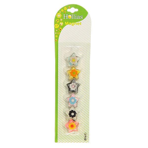 Магниты для магнитных досок ″Цветочек″ (6 шт) d-2,5см купить оптом и в розницу