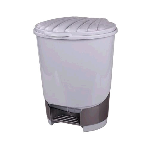 Ведро д/мусора пл 10 л педаль серый (Октябрьский) *1 купить оптом и в розницу