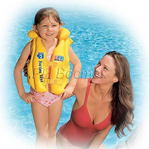 Жилет надувной детский Pool School от 3-6 лет Intex (58660) купить оптом и в розницу