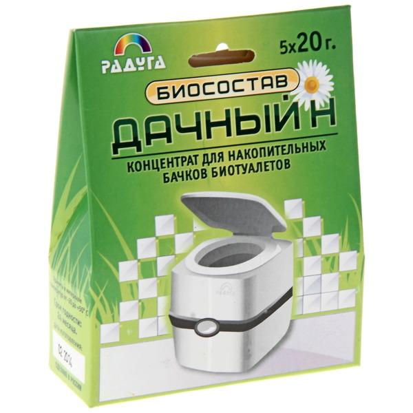 Биосостав (концентрат для накопительных бачков биотуалетов) 5*20 г ″Дачный - Н″ купить оптом и в розницу