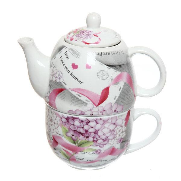 Набор чайный керамический 2 предмета (чайник 250мл +кружка 250мл) в подарочной упаковке ″Признание″ купить оптом и в розницу