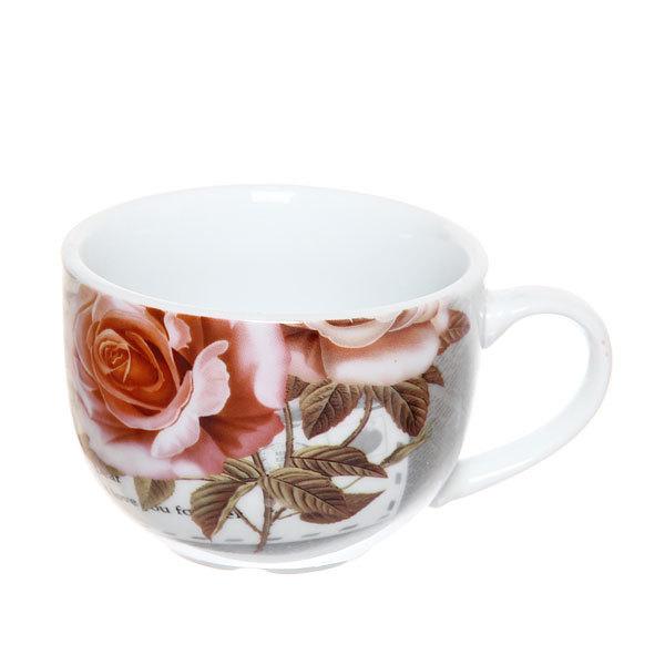 Набор чайный керамический 2 предмета (чайник 250мл +кружка 250мл) в подарочной упаковке ″Романтика″ купить оптом и в розницу