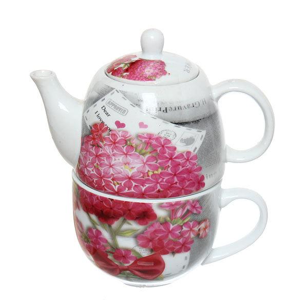 Набор чайный керамический 2 предмета (чайник 250мл +кружка 250мл) в подарочной упаковке ″Любовь″ купить оптом и в розницу