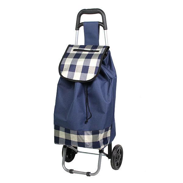 Тележка хозяйственная с сумкой (90,5*36*31см, колеса 15см,грузоподъемность до 30 кг) клетка купить оптом и в розницу