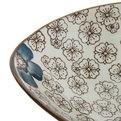 ″Синий цветок″ Салатник керамический 20*16*3,5см купить оптом и в розницу