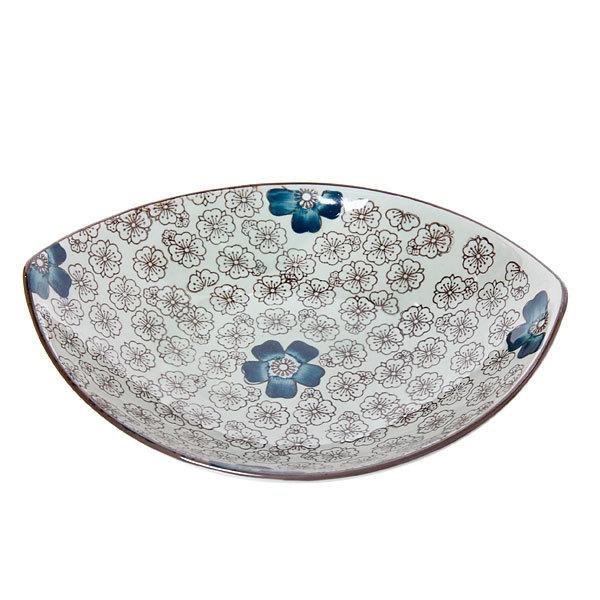 Салатник керамический ″Синий цветок″ 23*18,5*4см купить оптом и в розницу