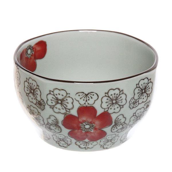 ″Красный цветок″ Салатник керамический 300мл 35430-36 купить оптом и в розницу