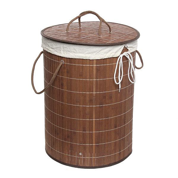 Корзина для белья бамбук 35х50 BK01/11 Chocolate купить оптом и в розницу