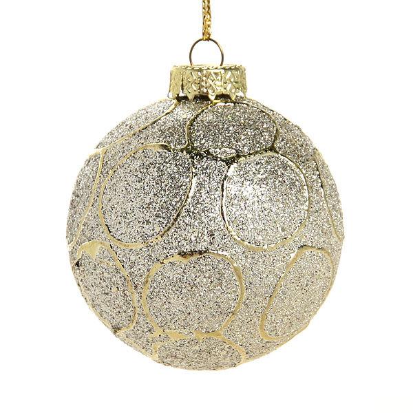 Новогодние шары ″Золотой всплеск″ 6см (набор 6шт.) купить оптом и в розницу