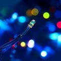 Занавес светодиодный ш 2 * в 3м, 432 ламп LED, ″Дождь″, RGB(красный, зеленый, синий), 8 реж, прозр.пров. купить оптом и в розницу