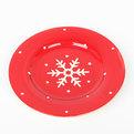 Тарелка керамическая 25см ″Снежинка″ купить оптом и в розницу