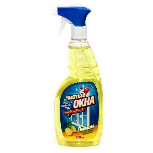 Средство для мытья стекол ЗОЛУШКА Чистые окна Лимон с триггером 750мл купить оптом и в розницу