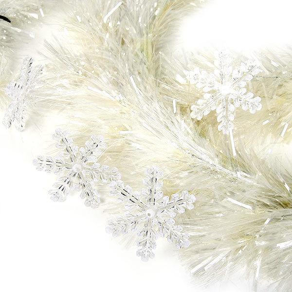 Гирлянда Елочная белая оптоволокно + снежинки 2 м ТT506-200 купить оптом и в розницу