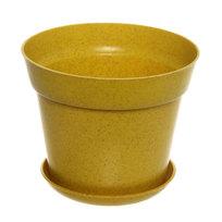 Горшок для цветов ЭКО Полянка″ 11,5*14,5см SHY-14А желтый 1,3 купить оптом и в розницу