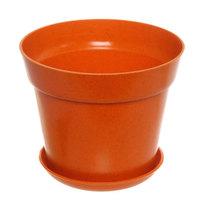 Горшок для цветов ЭКО Полянка″ 11,5*14,5см SHY-14А оранжевый купить оптом и в розницу