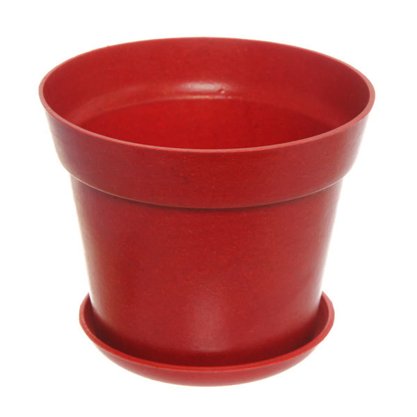 Горшок для цветов ЭКО Полянка″ 11,5*14,5см SHY-14А красный купить оптом и в розницу