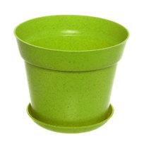 Горшок для цветов ЭКО Полянка″ 11,5*14,5см SHY-14А зеленый купить оптом и в розницу