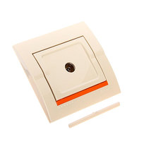 Розетка ТВ оконечная DERIY крем 702-0303-130 (Р) купить оптом и в розницу