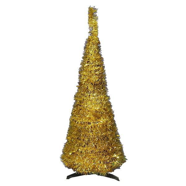Елка фольгированная 120 см золото купить оптом и в розницу