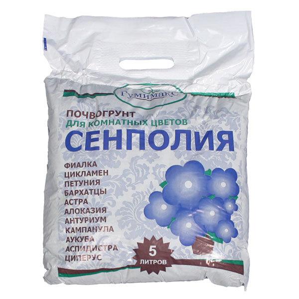 Гумимакс почвогрунт Сенполия (для комнатных цветов) 5 л (Р) купить оптом и в розницу