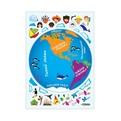 Наклейка декоративная интерьерная 47*67см ″Яркий мир″ 50шт купить оптом и в розницу