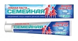 Зубная паста ″Семейная″, ″Vilsendent″ Семейная защита без фтора 170 гр купить оптом и в розницу