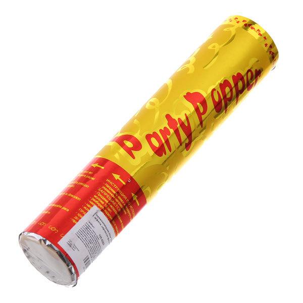 Пневмохлопушка 20см ″Золотой дождь″ конфетти, серпантин фольга купить оптом и в розницу