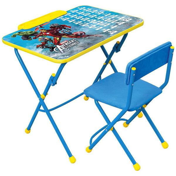 Набор детской мебели ″Дисней.Мстители″ складной, с пеналом, мягкий стул Д3А купить оптом и в розницу