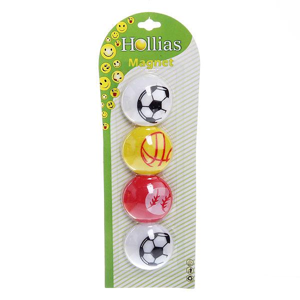 Магниты для магнитных досок ″Мяч″ (4 шт) d-4см купить оптом и в розницу