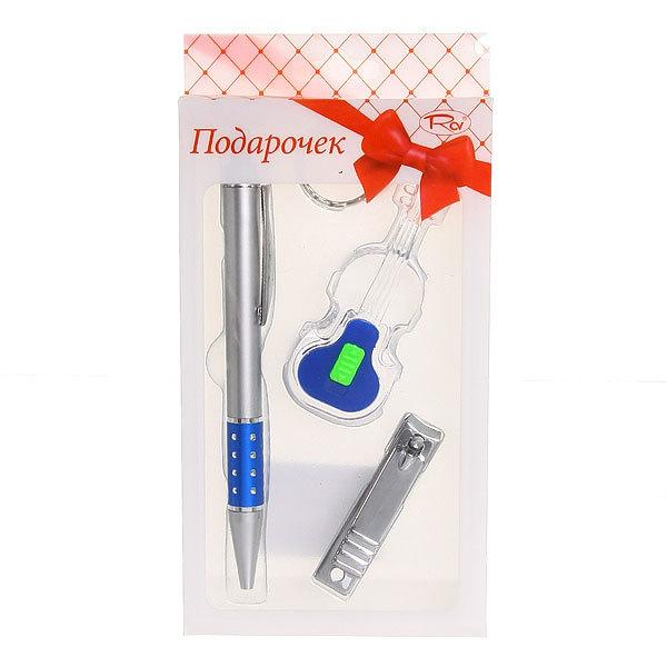 Подарочный набор (ручка, брелок-фонарик ″Гитара″, книпсер) купить оптом и в розницу