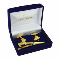 Подарочный набор ″LA GEER″: заколка для галстука, запонки (уп.1/200наб.)61326 купить оптом и в розницу
