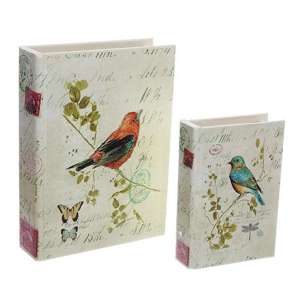 Шкатулка ″Carte postale Птичка″ (набор 2шт) дерево купить оптом и в розницу