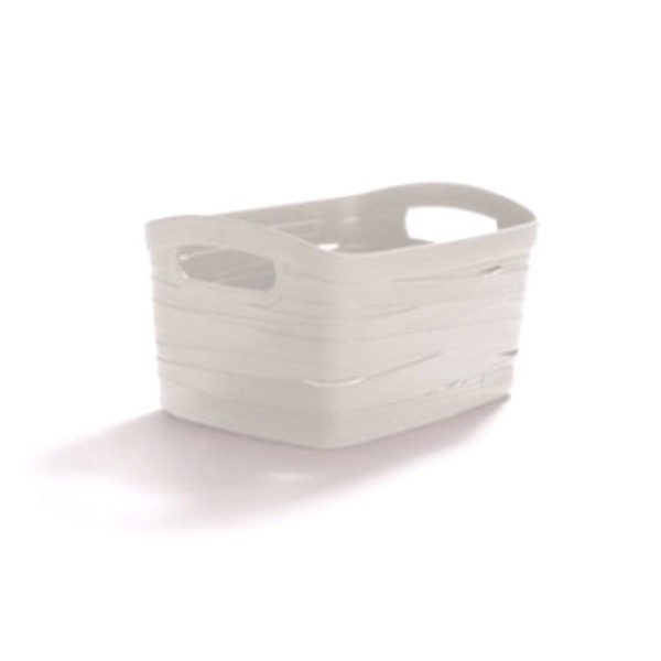 Корзинка L RIBBON белый/*5 шт Curver 380*290*240 купить оптом и в розницу