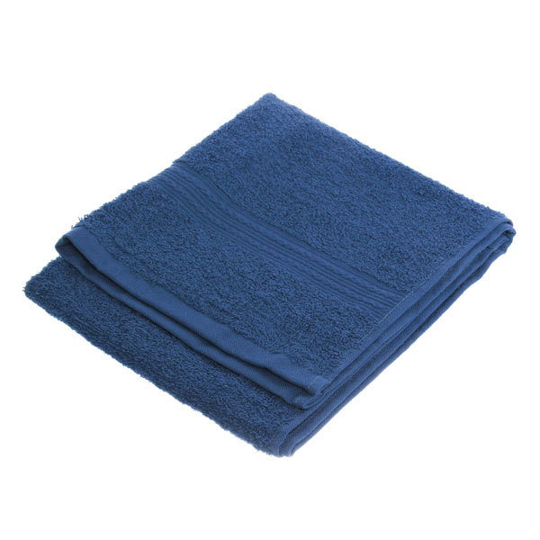 Махровое полотенце 40*70см темно-синее ЭК70 Д01 купить оптом и в розницу
