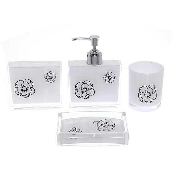 Набор для ванной из 4-х предметов 8002-7 цветы-1 купить оптом и в розницу