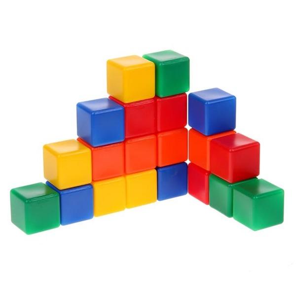Набор кубиков 20 шт цветные 1200606 купить оптом и в розницу