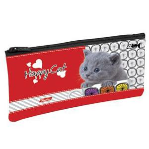 """Пенал 1отдел.пуст. Hatber """"Happy Cat"""", 205*110мм, на молнии купить оптом и в розницу"""